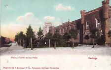 Chile Santiago - Plaza y Cartel de San Pablo undivided back unused postcard