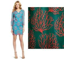 NWT $358 Lilly Pulitzer Wendy Snorkel Blue Coral Mesh Lace Dress 6