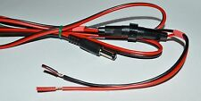 2.1mm DC power cable with fuse and write-on marker