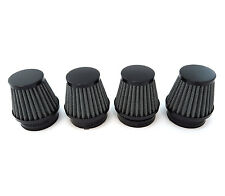 Black Air Filter Pod 50mm - Set of 4 - Honda Motorcycle CB350 CB360 CB450 CB750
