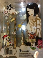 NIB Tokidoki Sephora Pittura Brush Set of 4 - 24 Karat Edition Charms Brushes