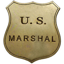 American Civil War Old West Era Lawmans Gold Effect US Marshall Badge 6x7cms