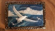 Classic collectable Belt Buckle SEAGLES Handmade Genuine Incolay Stone NEW