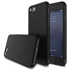 Luxury Shockproof Carbon Fiber TPU Soft Slim Case Cover for iPhone & Samsung