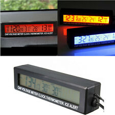 Vehicle Car Auto In/Out LCD Digital Clock Thermometer Temperature Meter Gauge