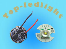 2sets 3W 16mm Bright White Cree XR-E LED Light+DC3.7V Dimmable Driver F XRE LED