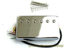 VINTAGE STYLE CHROME COPERTA chitarra humbucker Bridge Pickup COIL SPLIT 4 FILI
