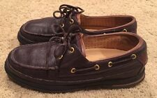 Men's Sperry Top Siders Gold Cup Vibram Brown Leather Lace-up Shoes Size 10 EUC