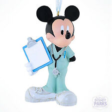 Authentic Disney Parks Mickey Mouse Doctor Christmas Ornament Dr. Mickey