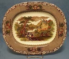 "Brown Transfer Ironstone Platter ""JENNY LIND"" Charles Meigh & Sons (CMS), 1850's"
