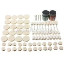 "80x 1/8"" Soft Polishing Buffing Burr Wheel Kit Compound for Dremel Rotary Tools"
