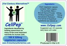 1 bottle x 100 capsules of CellPep(tm) scientific support for  dna/mitochondria