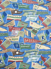 "Cotton Medium to Heavy Weight Fabric Baseball All American League  by 18""x 56"""