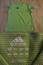 Women's Adidas L NWT Green Workout Shirt S/S Performance Fabric