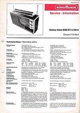 Service Manual-instrucciones para nordmende Galaxy mesa 9000 estéreo, 2.100 a