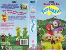 TELETUBBIES DANCE WITH THE TELETUBBIES ~VHS PAL  VIDEO~ A RARE FIND~VINTAGE