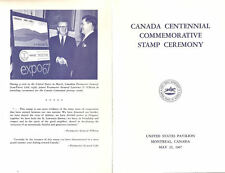 #1324-C1 First Day Ceremony Program 5c Canada Centenary Stamp