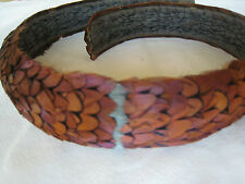 Vintage Hawaiian Pheasant Feather Lei / Hat Band - Handcrafted