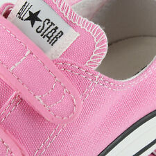 Converse All Star 3 Strap Velcro Pink Grade and Preschool Kids US size 2, 21 CM