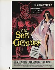 "2003 Vintage Horror ""The She-Creature"" MINI Art Plate Lithograph"