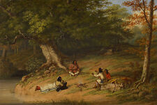 Midday Rest Cornelius David Krieghoff Indianer Wald Pause Familie B A3 01329