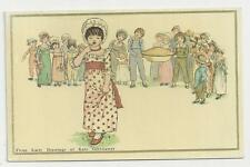 Postcard, From Early Drawings of Kate Greenaway, Apple Pie. Posted 1978