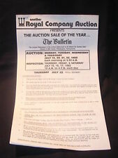 Royal Company Auction The Philadelphia Bulletin Auction of 1982 Office Equipment