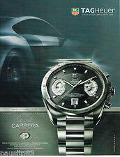 PUBLICITE ADVERTISING 065  2007  TAG HEUER   montre GRAND CARRERA