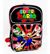 "NWT Super Mario Bros (Brothers) Backpack 16"" Large School Bag by Nintendo Ray"