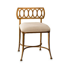Hillsdale Canal Street Vanity Stool Gold Bronze Cream 50973 Vanity Stool NEW