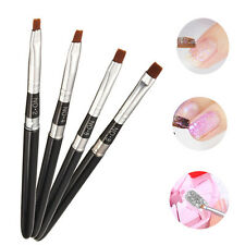 Flat Nail Art Brush Pen DIY Design UV Gel Acrylic French Painting False Tips