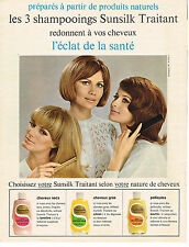 PUBLICITE ADVERTISING 014   1965   SUNSILK    shampoing traitant