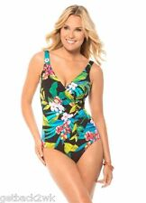 NEW MIRACLESUIT Oceanus TANK 1 PC SWIMSUIT $146 16 46 Gorgeous Tropical Floral