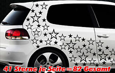 82 Sterne Star Auto Aufkleber Set Sticker Tuning Shirt Stylin WandtattooTribel e