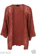 Topshop Dusky Tejido Crochet Floral Rosa Chal Cárdigan Kimono De Colección Chaqueta 12 14 40