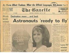 Space Travel Destination Moon and Back ASTRONAUTS READY TO FLY July 16 1969 B1