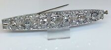 ART DECO PLATINUM 8.0ct DIAMOND BROOCH PIN W/APPRAISAL FINE ESTATE JEWELRY