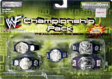 WWF WWE Wrestlemania Championship Wrestling 5 Belt Pack Hardcore,Smoking Skull