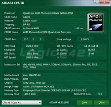 AMD Phenom X4 9950 Black Edition HD995ZFAJ4BGH 2.6GHz AM2+ 125W Processor