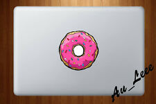 Macbook Air Pro Vinyl Skin Sticker Decal Cute Glow Pink Cartoon Donut CMAC203