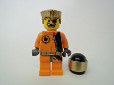 Lego Figur Agents Gold Tooth agt007 agt012 goldenes Haar Helm Set 8630 8967 8635