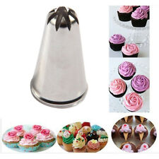 1X Drop Rose Flower Cup Ice Cream Piping Tip Nozzle Cake Decorating Pastry Tool