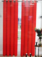"""1 PCS BRIGTH RED silk VOILE SHEER PANEL WINDOW CURTAIN 8 GROMMETS DRAPE 63"""""""