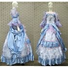 Blue Lavender Floral Victorian Marie Antoinette Masquerade Ball Gown Prom Dress
