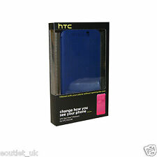 HTC DOT VIEW CASE/COVER FOR NEW HTC ONE M9 - HC M231 - GENUINE OFFICIAL BLUE