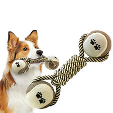 NEW Pet Chew Knot Toy Cotton Braided Bone Rope Color Puppy Dog Clean Teeth Ball