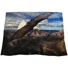 NEW Soaring Mountain Bald Eagle Photograph Ultra-Soft Sherpa Lined Throw Blanket
