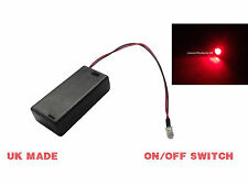RED FLASHING LED DUMMY SECURITY CAR ALARM Motorbike BELL BOX Switch Battery Box