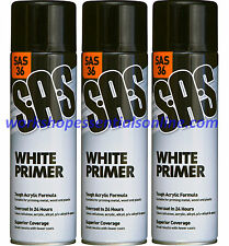 White Primer Spray Paint 3x500ml High Coverage on Metal, Wood, Plastic, Big Can