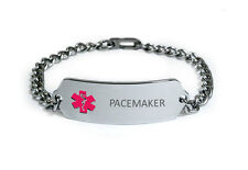 PACEMAKER Medical Alert ID Bracelet. Free medical Emergency Card!